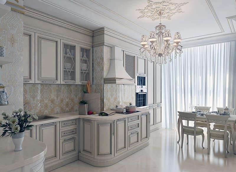 Красивая классическая кухня