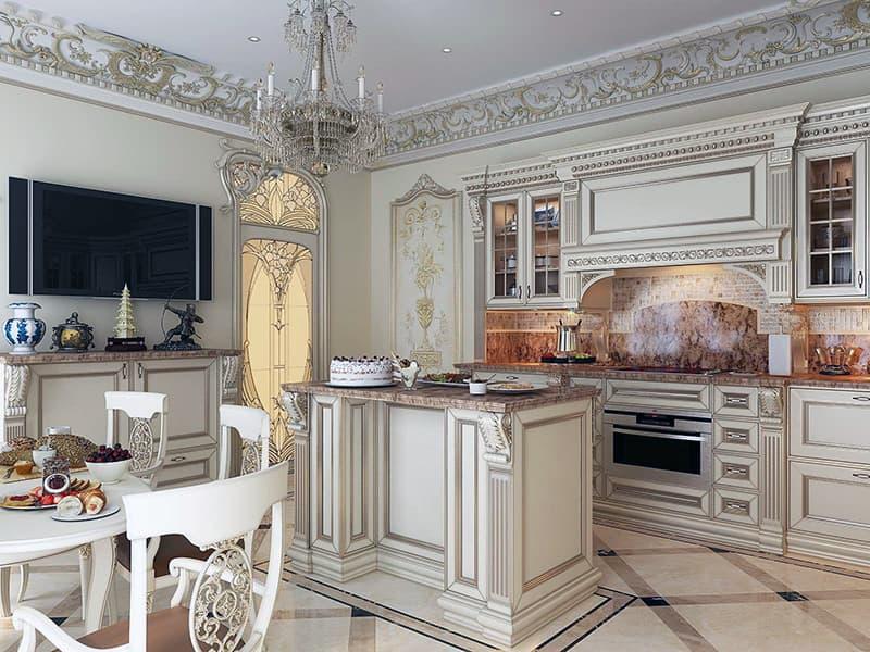 Кухня с классическим дизайном
