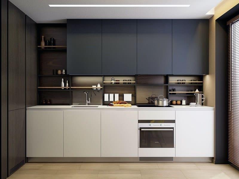 Кухня с прямой планировкой