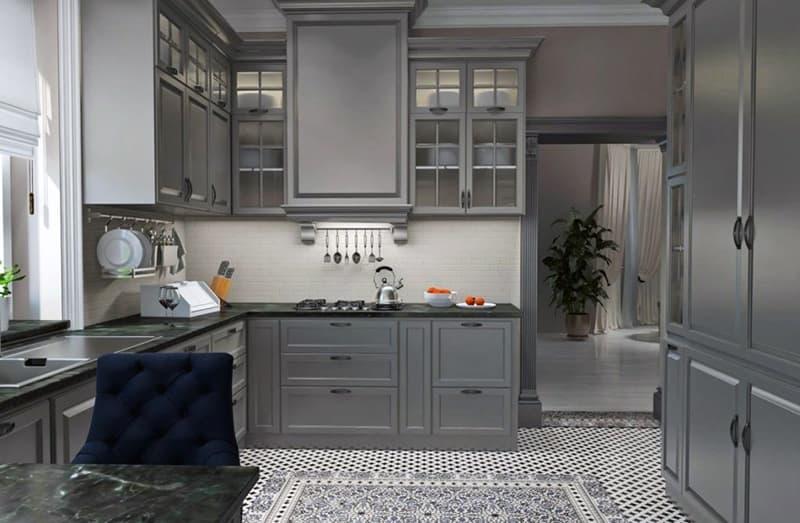 Неоклассическое оформление кухни