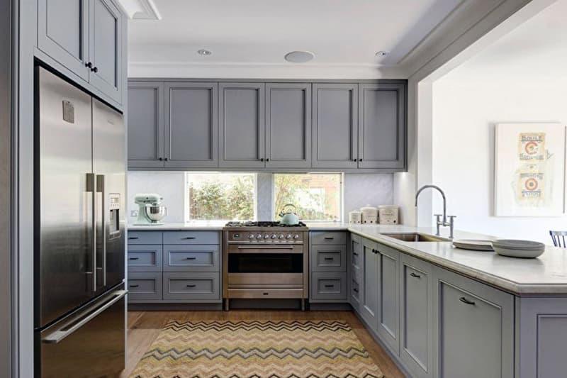 Оформление кухни в серых цветах