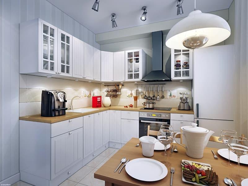 Освещение над рабочей зоной кухни