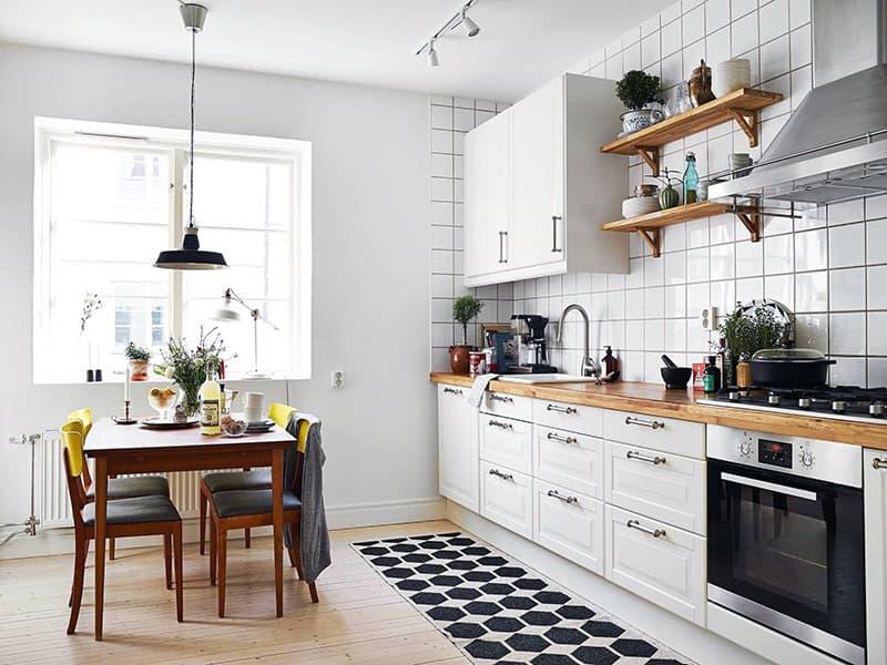 Светлая кухня в скандинавском стиле