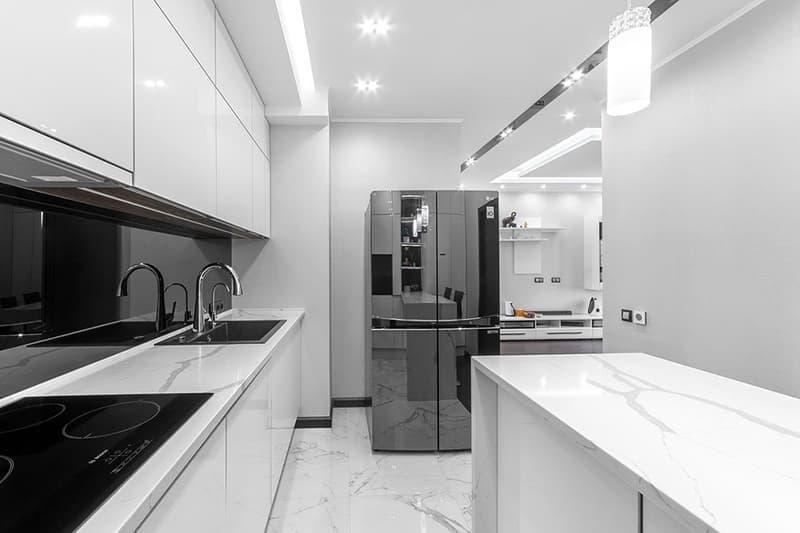Светлая мебель для кухни