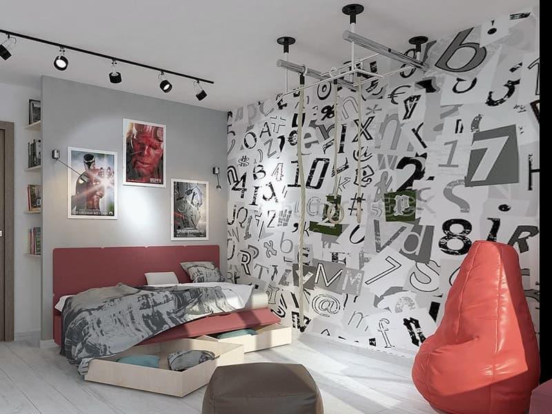 Место для отдыха в комнате подростка