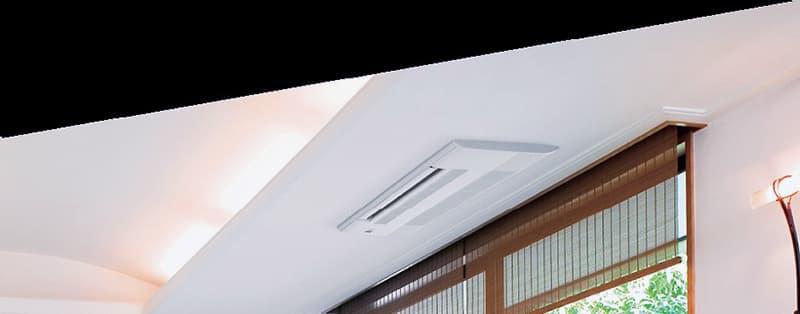 Приклад вбудованого кондиціонера в дизайні кімнати