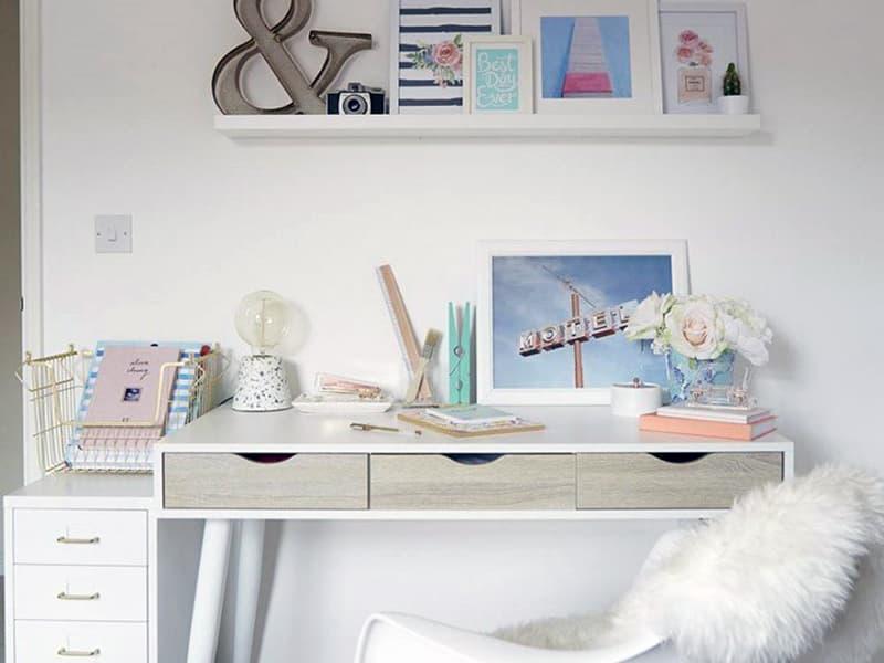 Рабочее пространство в комнате подростка