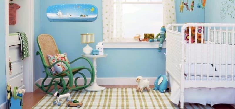 Стилизация кондиционера в детской комнате
