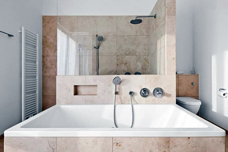 Дизайн ванной комнаты с керамогранитом