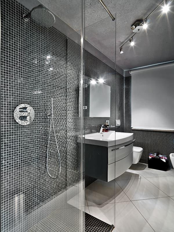 Мелкая мозаика в дизайне ванной комнаты