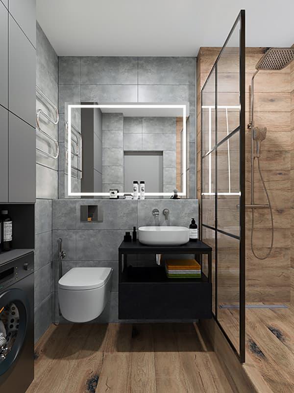 Приклад відкритої душової кабіни