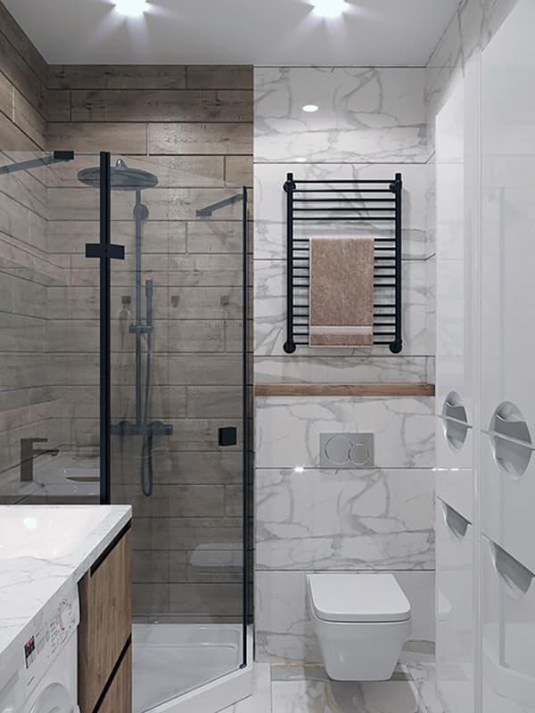 Прозора кутова душова кабіна