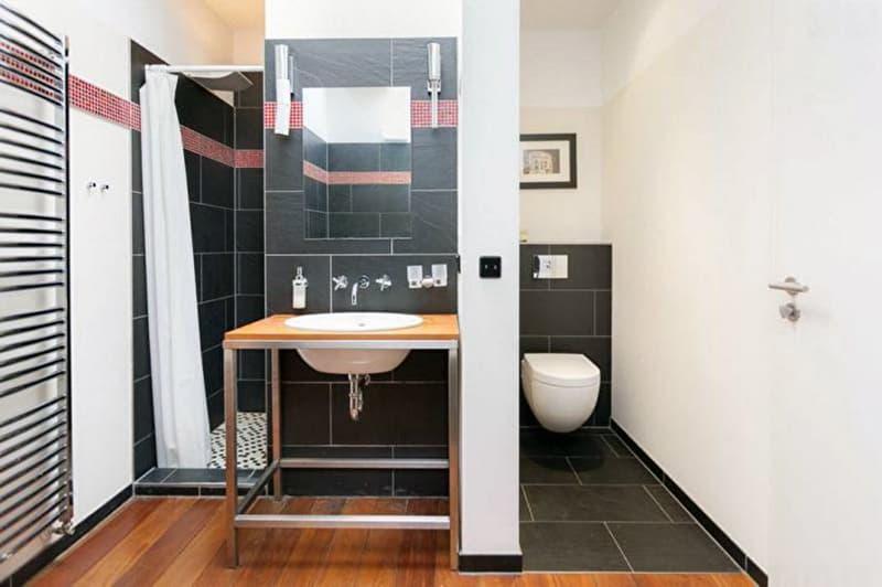 Ванная комната с керамогранитом