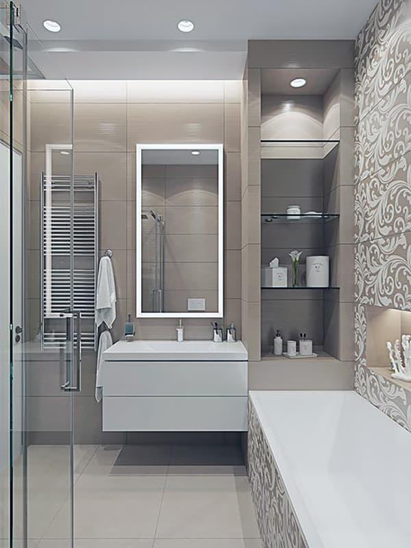 Ванна кімната в бежевих тонах