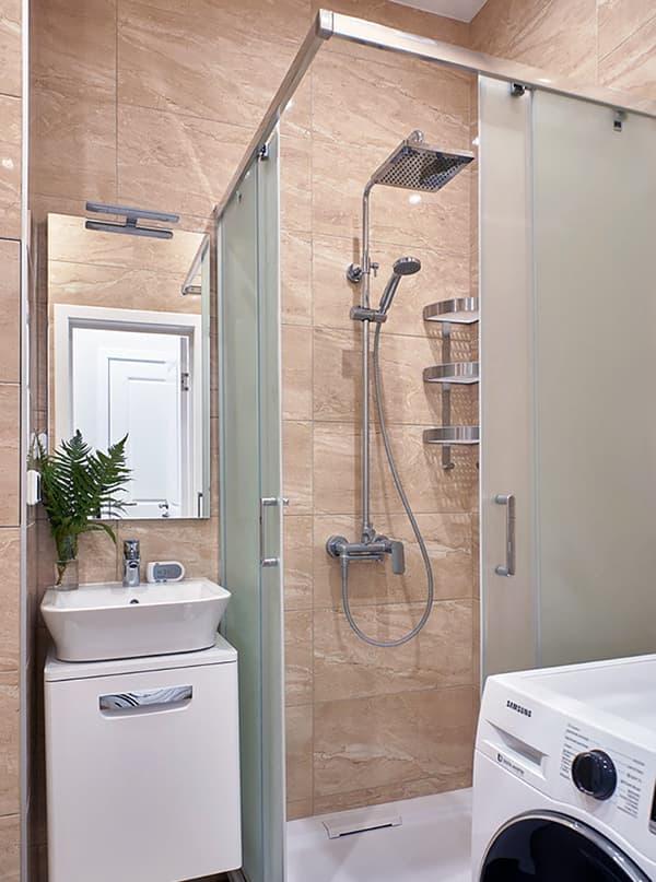 Ванная комната в бежевых цветах
