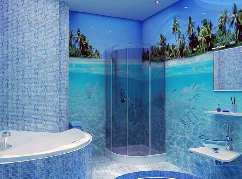 Ванна кімната в морському стилі