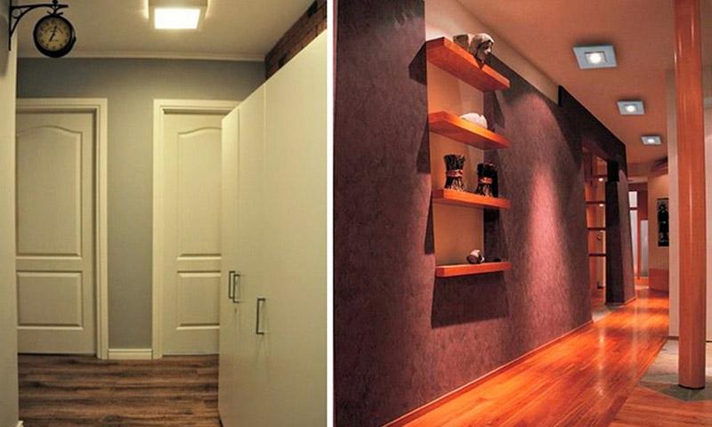 Лампи для коридору або невеликої кімнати