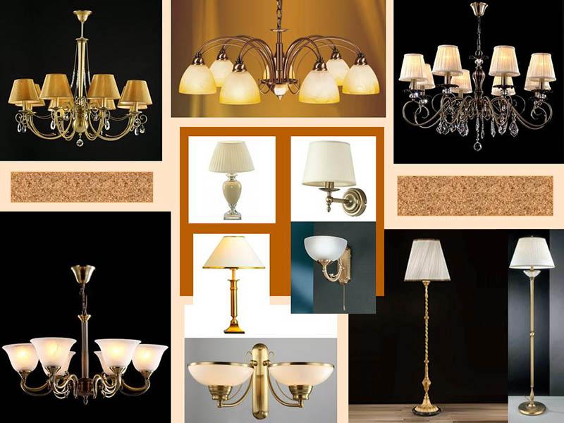 Лампи для приміщень в класичному стилі